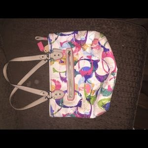 Colorful Coach bag